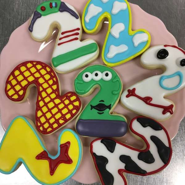 two year decorated sugar cookies