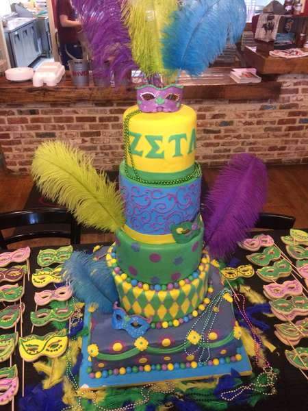 tiered party cake