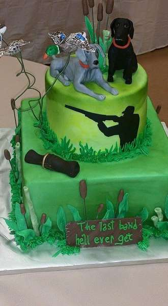 hunting theme party cake
