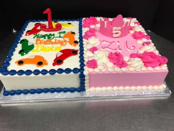boy/girl sheet cakes