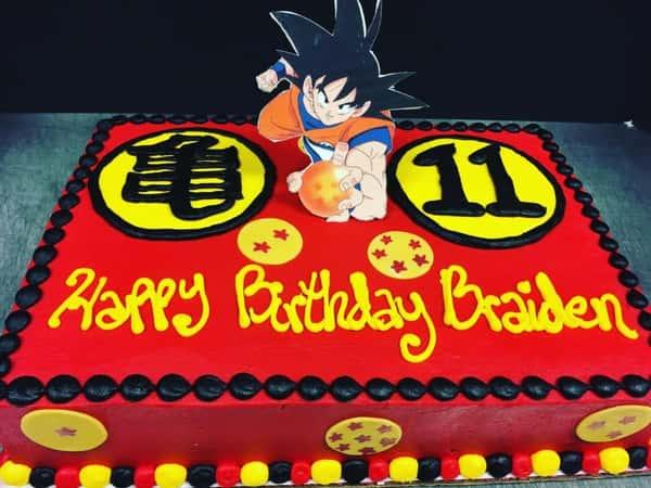 Anime sheet cake