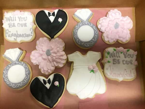 Wedding decorated sugar cookies