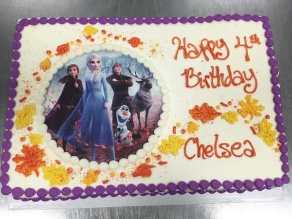 Disney Frozen sheet cake