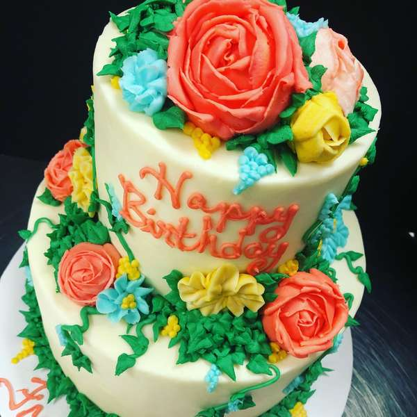 Floral Party Cake
