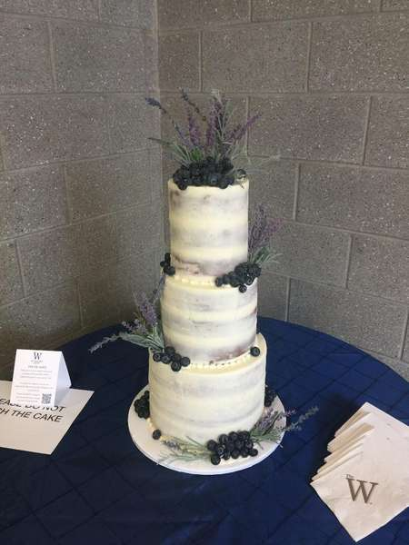 wedding cake with blueberries