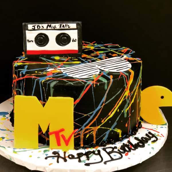 MTV 80s Cake