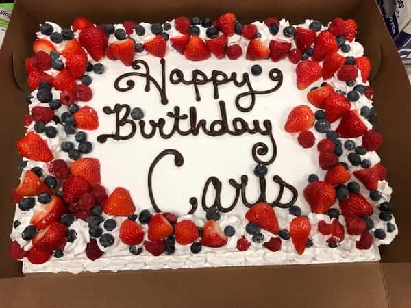 berry sheet cake