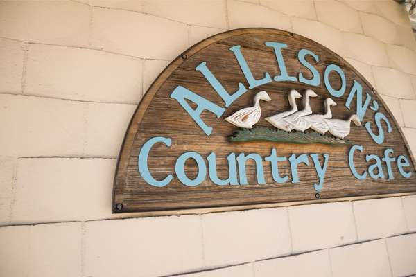 """exterior signage """"allisons cafe"""""""
