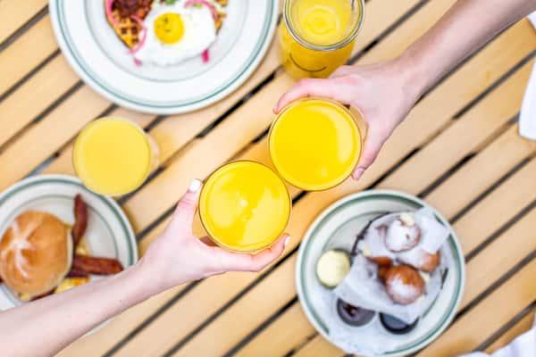 mimosas at lemon