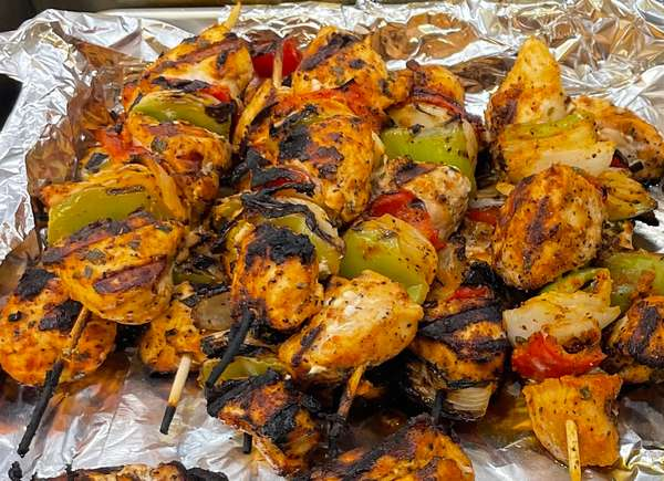 Jerk Chicken Kabab