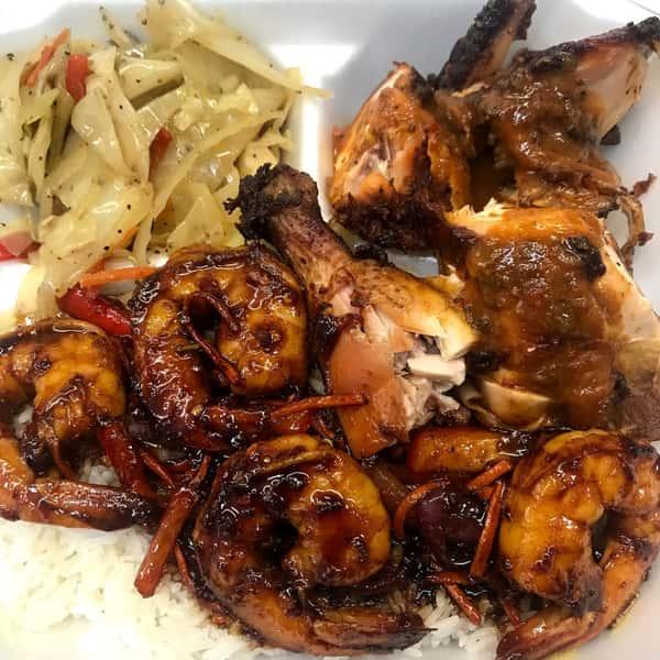 Jerk Chicken & Jerk Shrimp