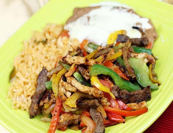 Chicken Lunch Fajitas
