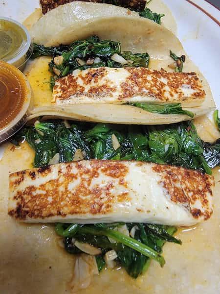 Asadero Spinach Soft Tacos (3)