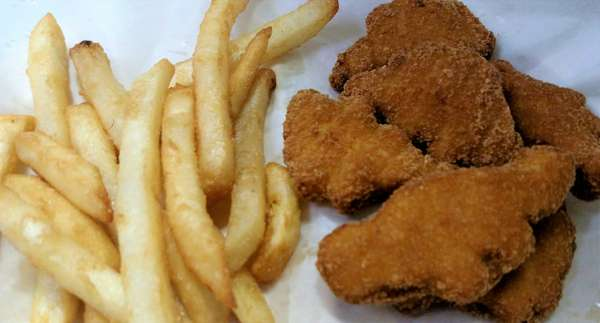 F. Dino Nuggets and Fries