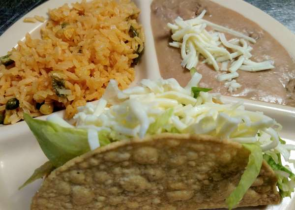 B. Taco, Rice and Beans