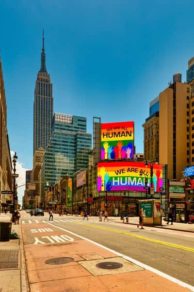 rainbow billboard