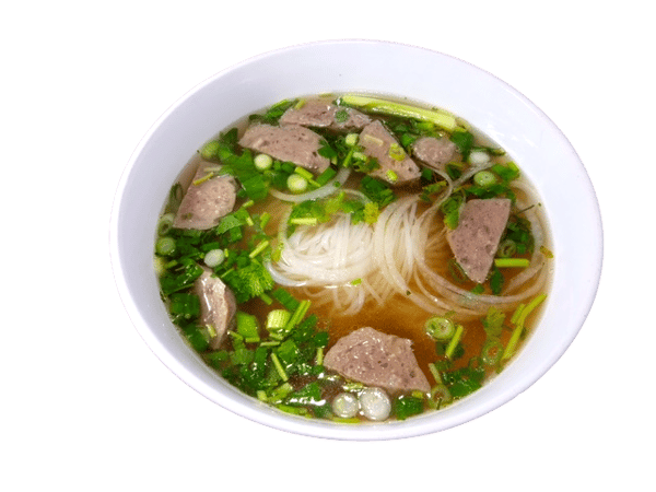 PHO Beef Noodle Soup With Meaballs (Phở Bò viên)