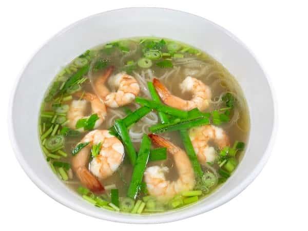 PHO Shrimp Rice Noodle Soup (Hủ tiếu tôm).
