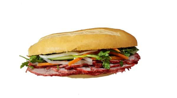 Roasted Pork Sandwich (Bánh mì thịt đỏ.)