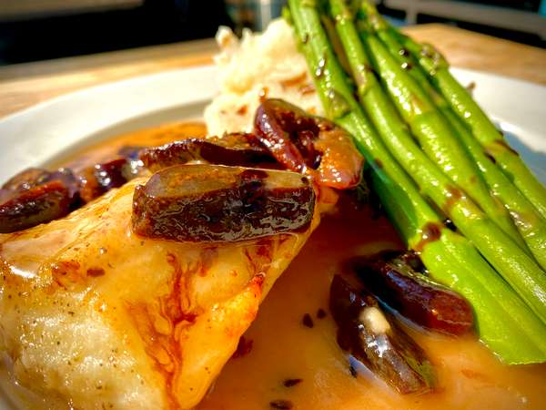 A photo of the Sea Bass Moscato