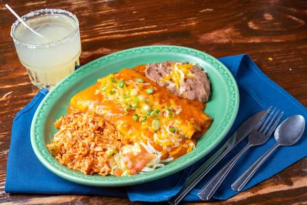 Cream Cheese & Chicken Enchiladas