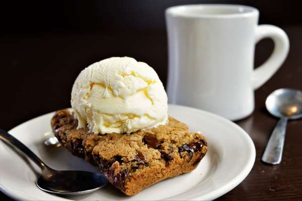 dessert with coffee