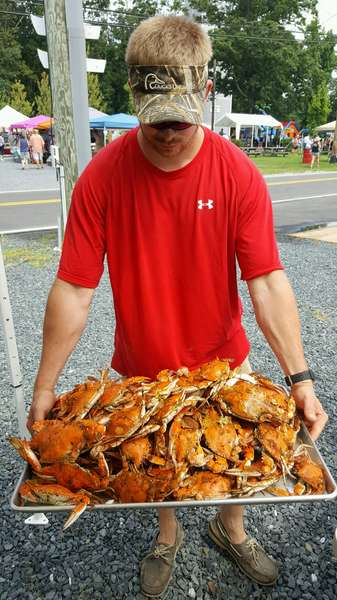 holding crabs
