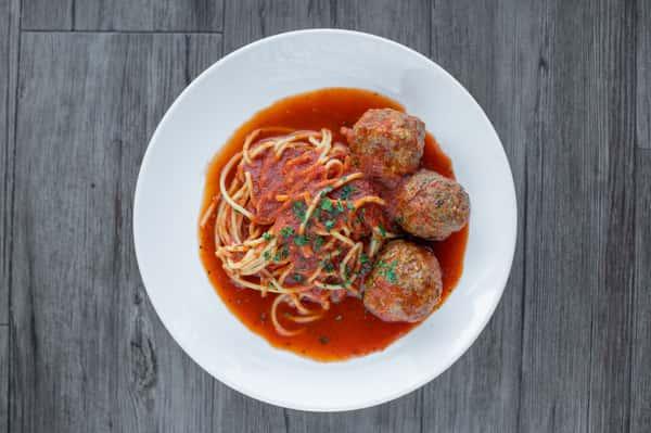 Spaghetti & Meatballs or Sausage