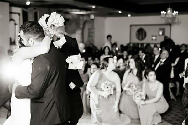 couple dancing on wedding day