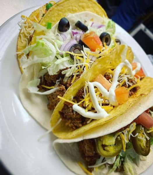 hardshell beef taco