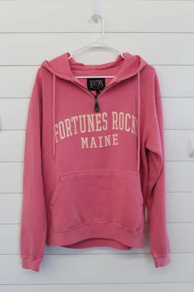 Pink Sweatshirt, Hooded Fortunes Rocks