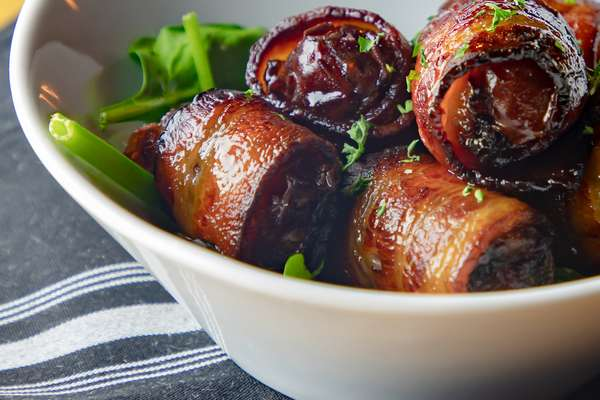 MAPLE BACON WRAPPED DATES