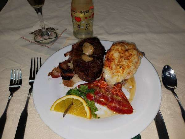 Surf and Turf with New York Strip
