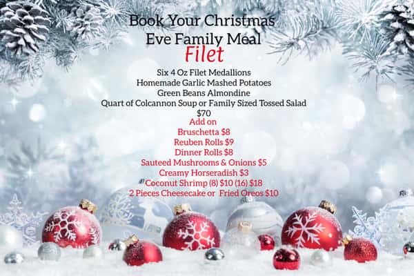 Christmas Eve Family Meals