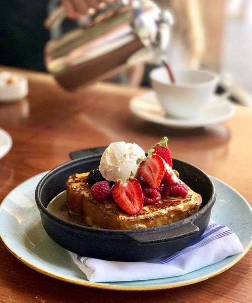 french toast in skillet