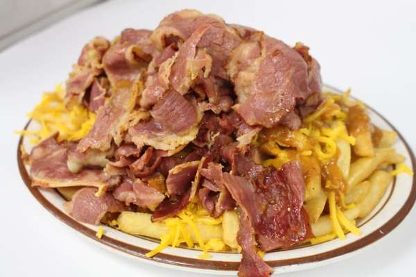 Chili Cheese Fries with Carne Asada or Pastrami
