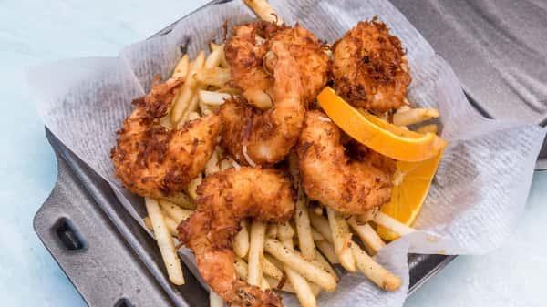 coconut-shrimp-basket-with-fries