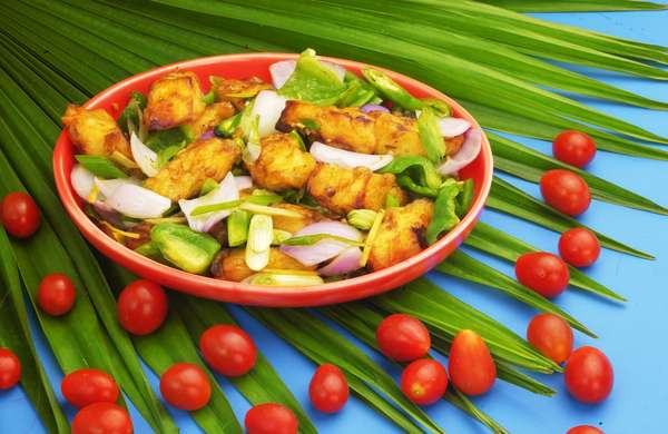 Paneer Chilly treated