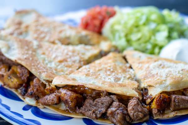 Steak & Sweet Plantains Quesadilla