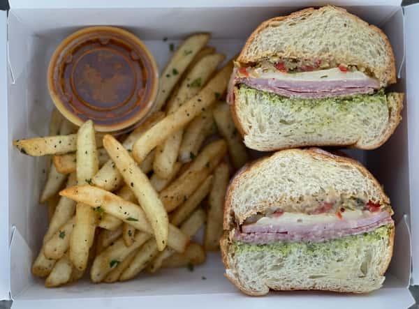 Muffuletta Sandwich +Fries