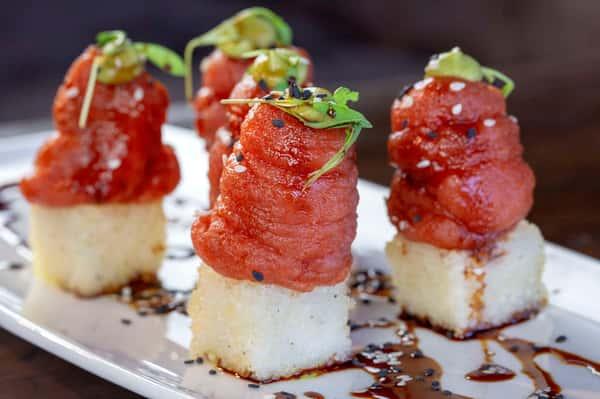 spicy crispy tuna rice
