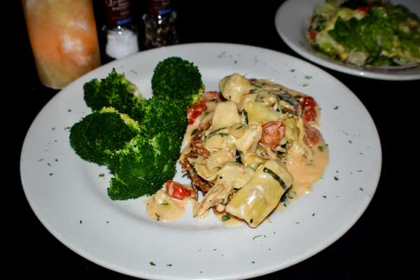 Capellini Crusted Red Snapper