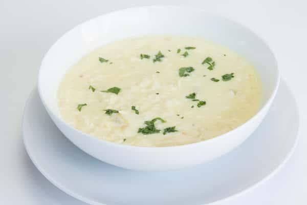 Avgolemono Lemon Chicken Soup or Vegan Lentil