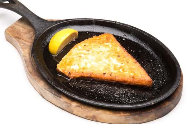 Saganaki Flaming Cheese