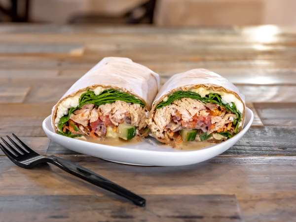 #14 Grilled Salmon Wrap