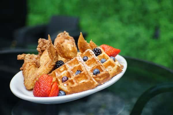Stuffed Blueberry Waffle