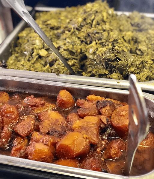 Sweet Potatoes and Collard Greens