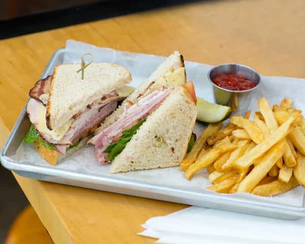 sandwich from landmark smokehouse