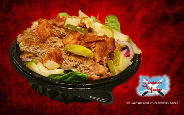 Black Angus Hamburger Salad**