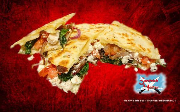 Mediterranean Chicken Quesadilla